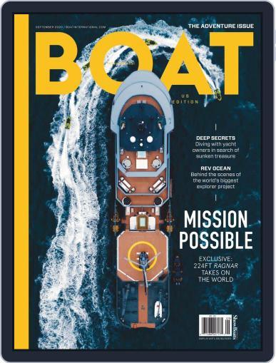 Boat International US Edition Magazine (Digital) September 1st, 2020 Issue Cover