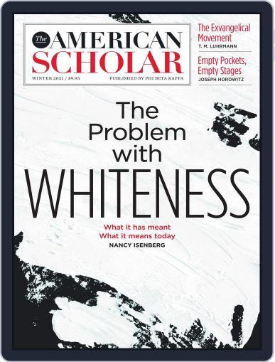 The American Scholar Magazine (Digital) November 1st, 2020 Issue Cover
