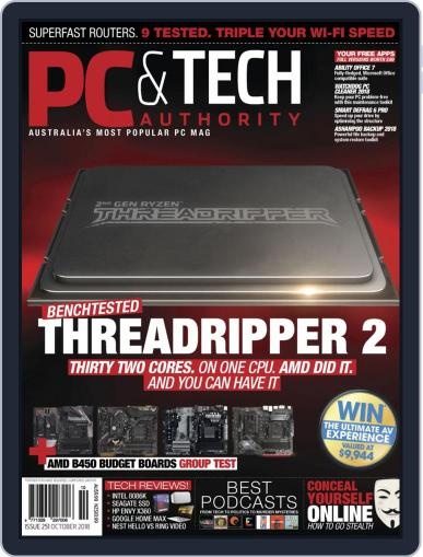 PC & Tech Authority October 1st, 2018 Digital Back Issue Cover