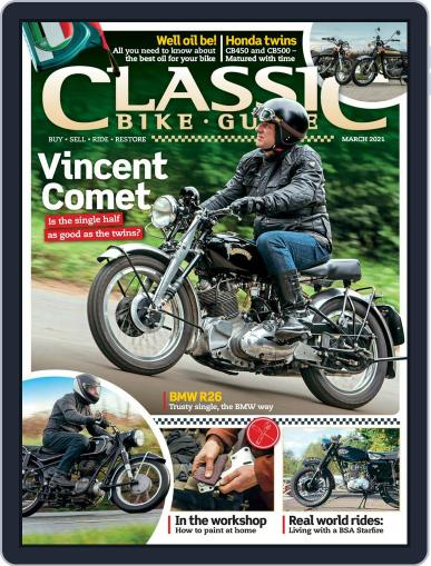 Classic Bike Guide Magazine (Digital) March 1st, 2021 Issue Cover