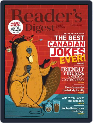 Reader's Digest Canada Magazine (Digital) November 1st, 2020 Issue Cover