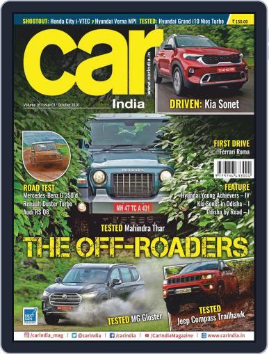 Car India Magazine (Digital) October 1st, 2020 Issue Cover