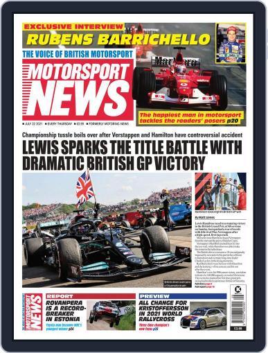 Motorsport News Magazine (Digital) July 22nd, 2021 Issue Cover