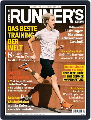 Runner's World Deutschland Magazine (Digital) July 1st, 2021 Issue Cover