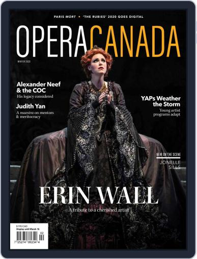 Opera Canada Magazine (Digital) December 1st, 2020 Issue Cover