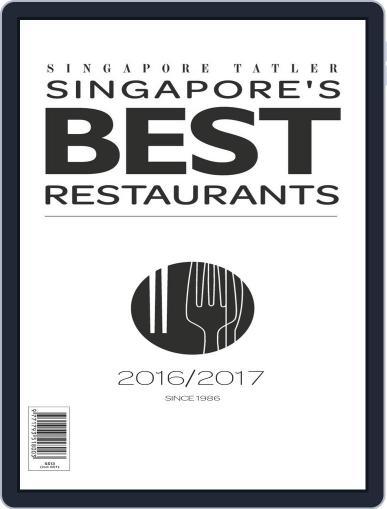 Singapore Tatler Singapore's Best Restaurants April 1st, 2017 Digital Back Issue Cover