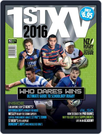 Nz Rugby World First Xv April 1st, 2016 Digital Back Issue Cover