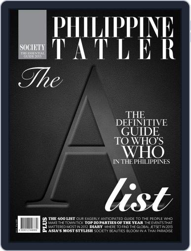 Philippine Tatler Society January 25th, 2013 Digital Back Issue Cover