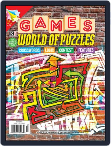 Games World of Puzzles Magazine (Digital) January 1st, 2021 Issue Cover