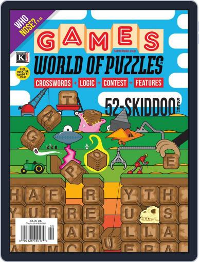 Games World of Puzzles Magazine (Digital) September 1st, 2021 Issue Cover