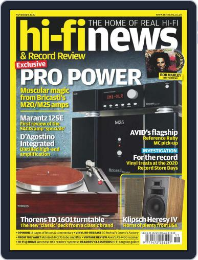 Hi Fi News Magazine (Digital) November 1st, 2020 Issue Cover