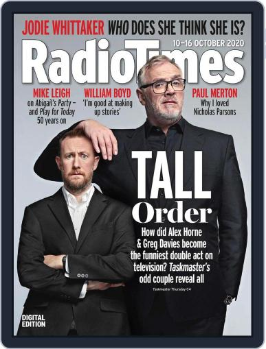 Radio Times Magazine (Digital) October 10th, 2020 Issue Cover