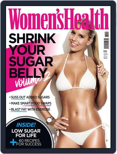 Women's Health Shrink Your Sugar Belly Magazine (Digital) January 1st, 2017 Issue Cover