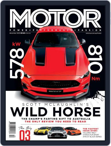 Motor Magazine Australia Magazine (Digital) December 1st, 2020 Issue Cover