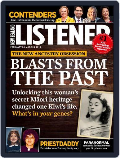 New Zealand Listener Magazine (Digital) February 24th, 2018 Issue Cover