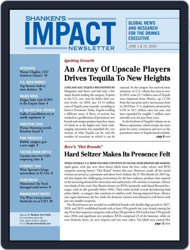 Shanken's Impact Newsletter June 1st, 2020 Digital Back Issue Cover
