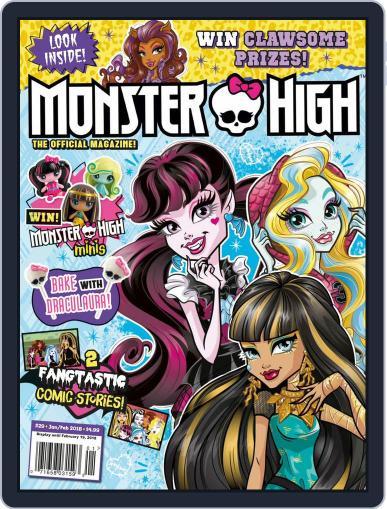 Monster High January 1st, 2018 Digital Back Issue Cover