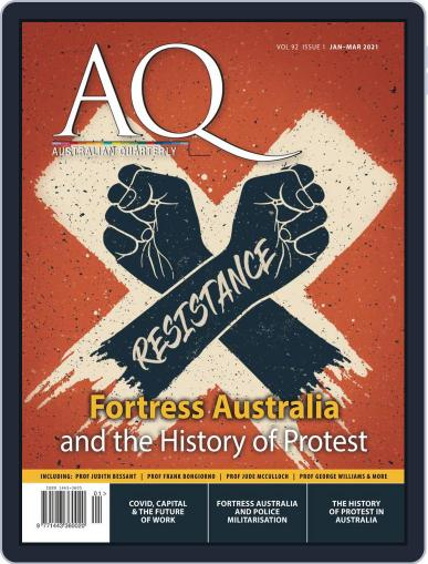 AQ: Australian Quarterly Magazine (Digital) January 1st, 2021 Issue Cover
