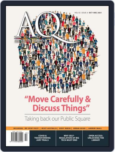 AQ: Australian Quarterly Magazine (Digital) October 1st, 2021 Issue Cover