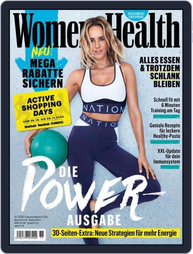 Women's Health Deutschland Magazine (Digital) November 1st, 2020 Issue Cover