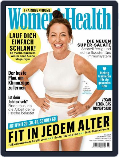 Women's Health Deutschland Magazine (Digital) March 1st, 2021 Issue Cover