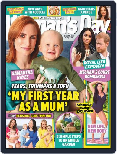 Woman's Day Magazine NZ Magazine (Digital) October 19th, 2020 Issue Cover