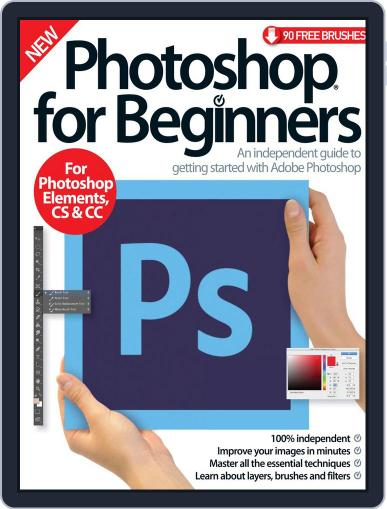 Photoshop for beginners United Kingdom October 1st, 2016 Digital Back Issue Cover