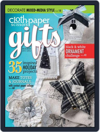 Cloth Paper Scissors Gifts Magazine (Digital) October 18th, 2011 Issue Cover