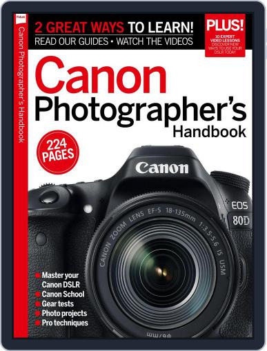 Master your Canon DSLR October 31st, 2016 Digital Back Issue Cover