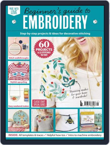 Beginner's Guide To Embroidery Magazine (Digital) February 13th, 2020 Issue Cover