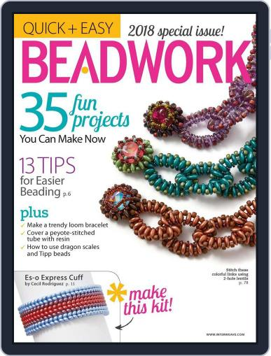 Quick & Easy Beadwork Magazine (Digital) September 14th, 2017 Issue Cover