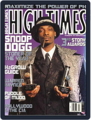 High Times- Stoner of the Year: Snoop Dogg September 17th, 2009 Digital Back Issue Cover