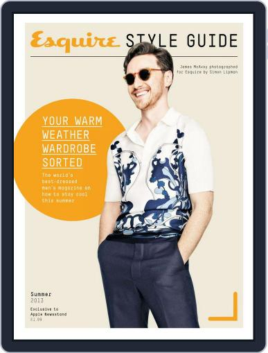 Esquire Summer Style Guide 2013 June 6th, 2013 Digital Back Issue Cover