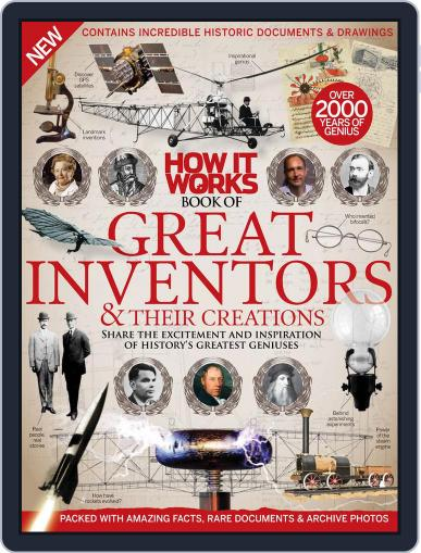 How It Works Book of Great Inventors & Their Creations April 1st, 2016 Digital Back Issue Cover