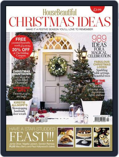 House Beautiful Christmas Ideas Magazine (Digital) October 23rd, 2013 Issue Cover