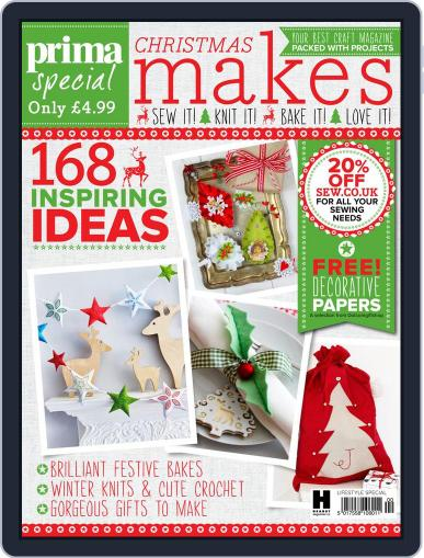 Prima Christmas Makes Magazine (Digital) September 29th, 2015 Issue Cover
