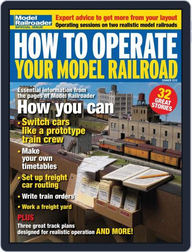 How to Operate Your Model Railroad April 3rd, 2012 Digital Back Issue Cover