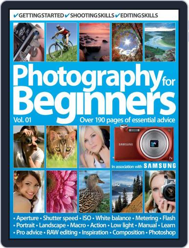 Photography For Beginners Vol 1 Magazine (Digital) July 24th, 2012 Issue Cover