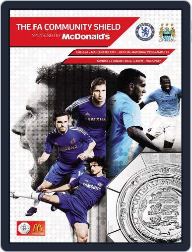Community Shield Manchester City v Chelsea August 12th, 2012 Digital Back Issue Cover