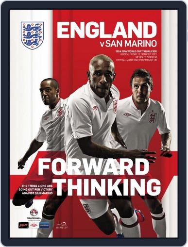England vs San Marino Matchday Programme October 11th, 2012 Digital Back Issue Cover