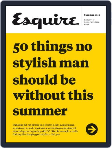 50 Things No Man Should Be Without Magazine (Digital) June 4th, 2013 Issue Cover