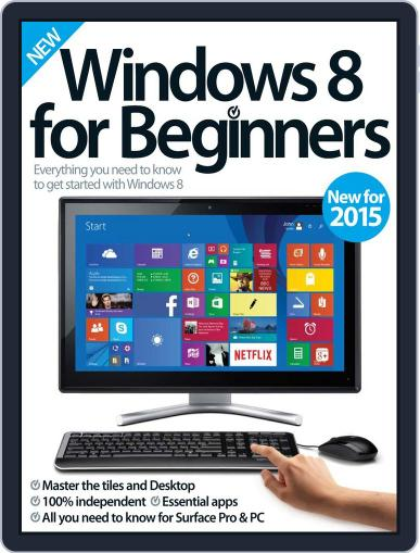 Windows 8 For Beginners February 18th, 2015 Digital Back Issue Cover
