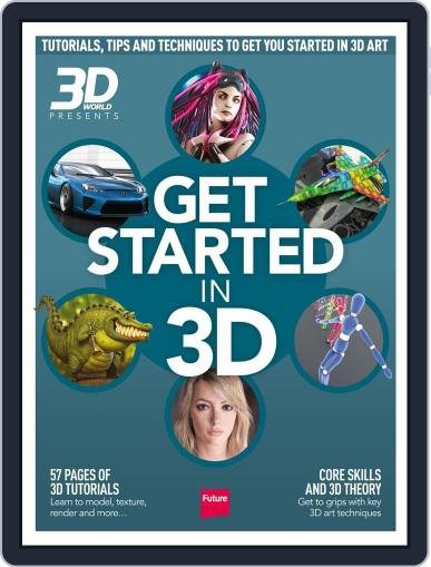 Get Started in 3D August 5th, 2014 Digital Back Issue Cover
