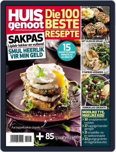 Huisgenoot se 100 Beste Resepte: Sakpas Magazine (Digital) April 14th, 2015 Issue Cover