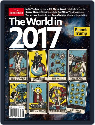 The Economist The World in 2017 January 1st, 2017 Digital Back Issue Cover