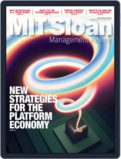MIT Sloan Management Review Magazine (Digital) April 1st, 2021 Issue Cover