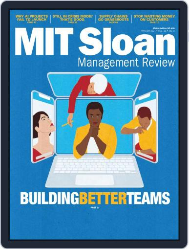 MIT Sloan Management Review Magazine (Digital) January 1st, 2021 Issue Cover