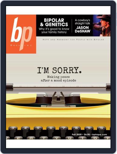 bp Magazine for Bipolar Magazine (Digital) September 1st, 2020 Issue Cover