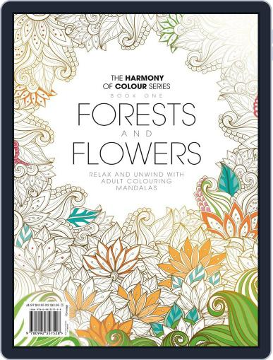 Colouring Book: Forests and Flowers Magazine (Digital) June 1st, 2017 Issue Cover
