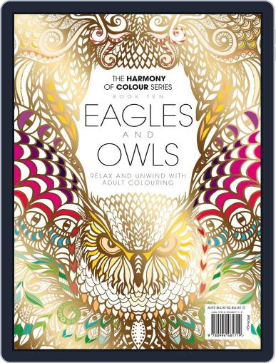 Colouring Book: Eagles and Owls Magazine (Digital) June 1st, 2017 Issue Cover